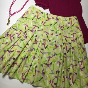 Liz Claiborne Pleated Skirt with Heeled Shoes
